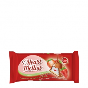 Heart Mellow Chocolate Coated Biscuits with Marshmallow and Jelly